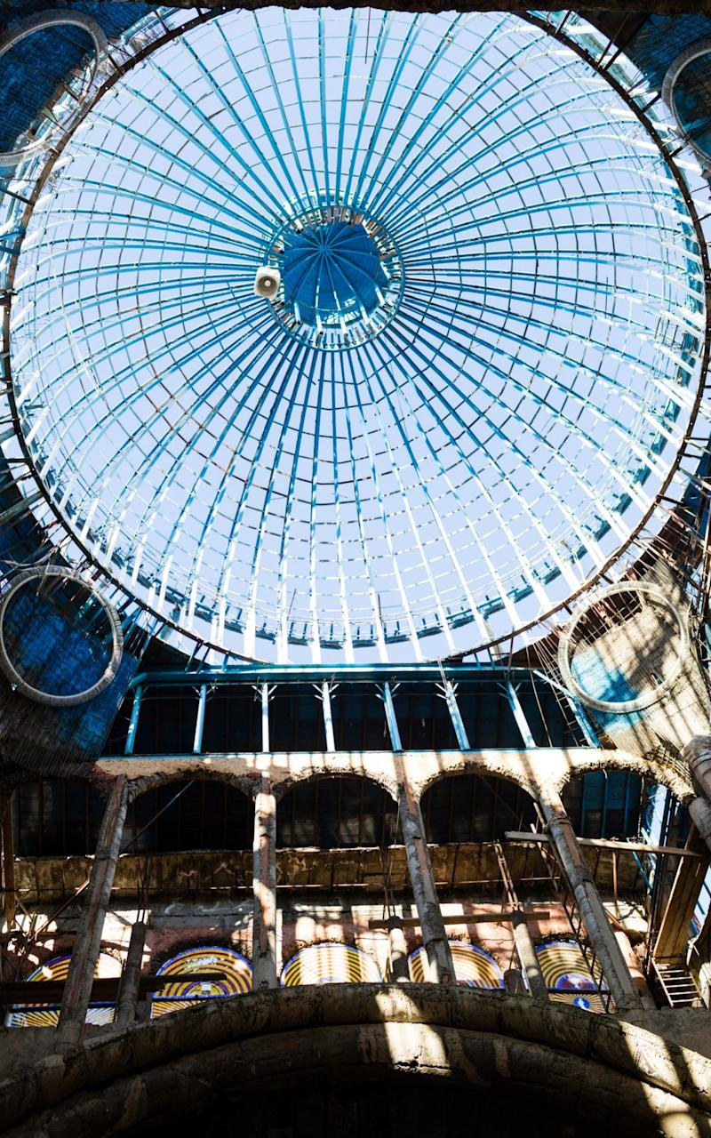 The unfinished 125-foot-tall cupola of the church-cathedral project - Credit: GIANFRANCO TRIPODO/NYTNS / Redux / eyevine