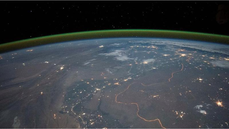 Night glow on Earth