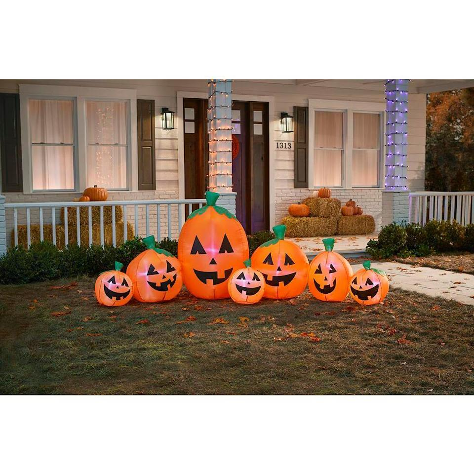 harvest pumpkin inflatable decoration, scary halloween decorations
