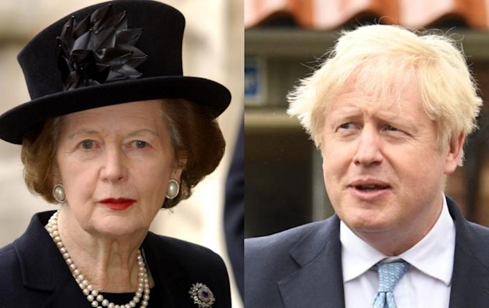 Boris Johnson would have to stay in charge for more than the 11 years Margaret Thatcher was at the helm (PA/Getty)