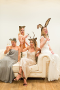 """<p>You probably already have a party dress in your closet, so here's an excuse to wear it again. Throw on a pair of ears and sip on a glass of Champagne for a funny group costume idea.</p><p><strong>Get the tutorial at <a href=""""https://laurenconrad.com/blog/2015/10/hocus-pocus-my-halloween-costume-party-animal/"""" rel=""""nofollow noopener"""" target=""""_blank"""" data-ylk=""""slk:Lauren Conrad"""" class=""""link rapid-noclick-resp"""">Lauren Conrad</a>.</strong></p><p><strong><a class=""""link rapid-noclick-resp"""" href=""""https://www.amazon.com/Homecoming-Sleeveless-Sequins-Stunning-Bodycon/dp/B01KYT7IH4/ref=sr_1_2?tag=syn-yahoo-20&ascsubtag=%5Bartid%7C10050.g.21600836%5Bsrc%7Cyahoo-us"""" rel=""""nofollow noopener"""" target=""""_blank"""" data-ylk=""""slk:SHOP PARTY DRESSES"""">SHOP PARTY DRESSES</a></strong></p>"""