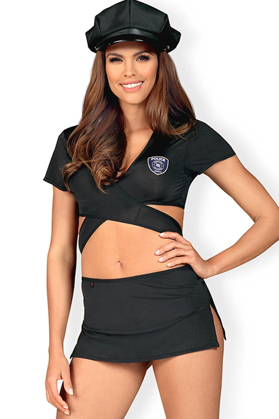 Obsessive Hot Pursuit 4 Pce Sexy Police Costume, $74.99
