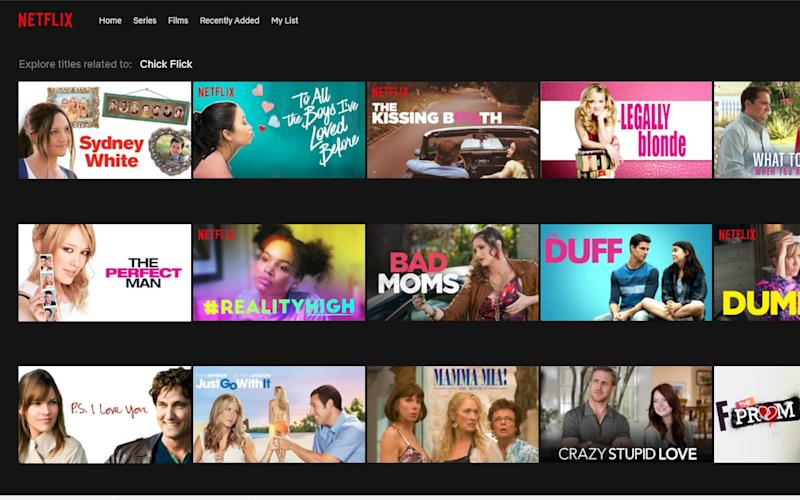 Netflix allows people to search for