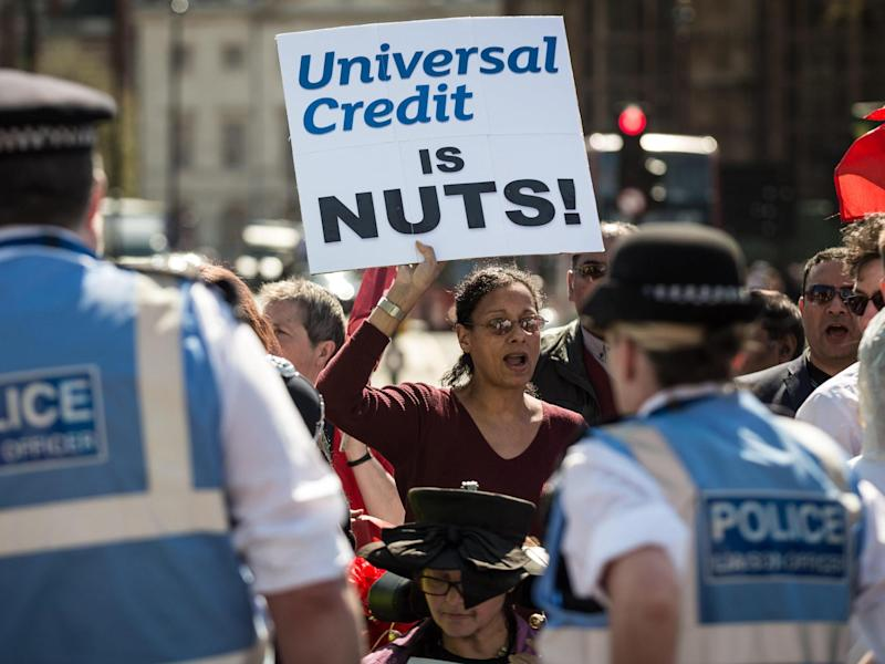 Campaigners have fought against a universal credit roll-out beset by problems: Alamy