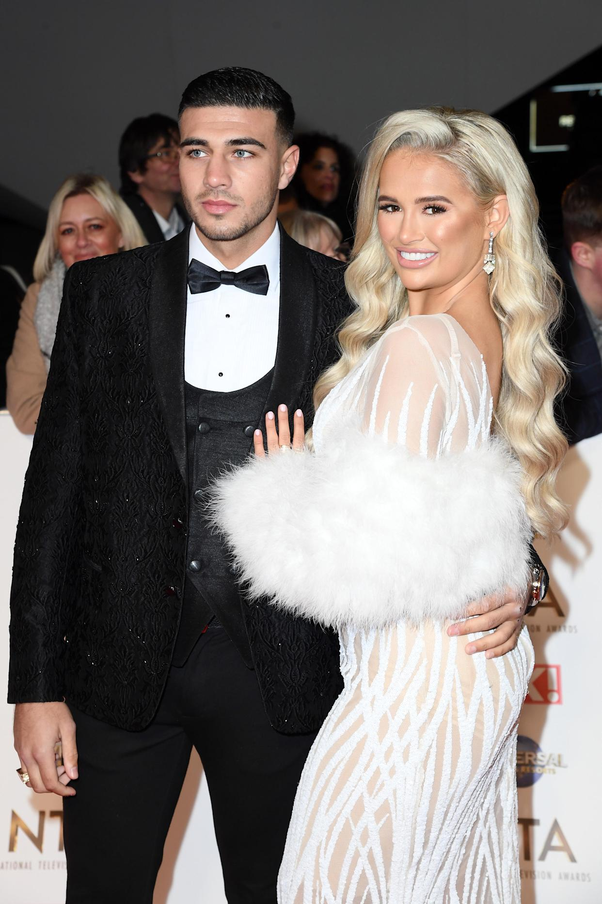 Molly-Mae Hague pictured with boyfriend Tommy Fury. (Photo by Gareth Cattermole/Getty Images)