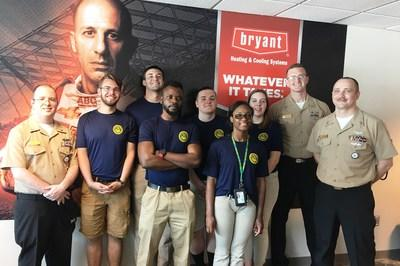 A group of soldiers celebrated Armed Forces Day from the Bryant Heating & Cooling Systems suite at the Indianapolis Motor Speedway. The 3rd annual event was held with the USO of Indiana.