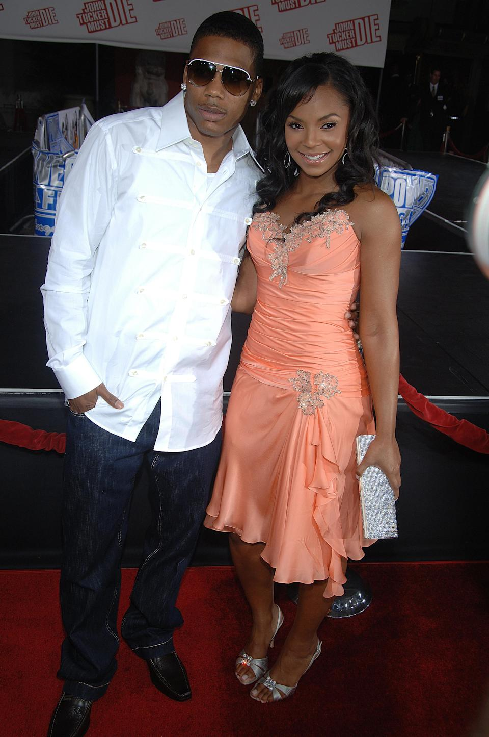 Nelly and Ashanti at an awards show