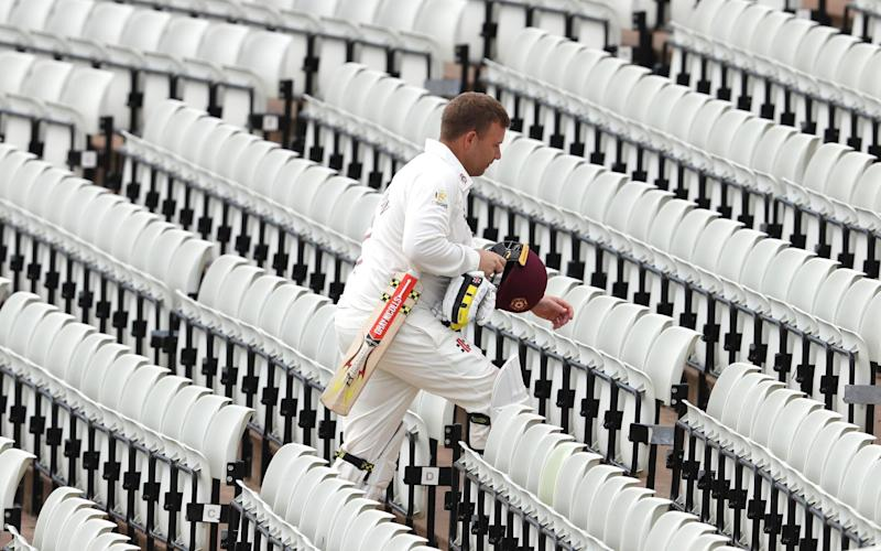 County Cricket has so far been played in front of empty stands - GETTY