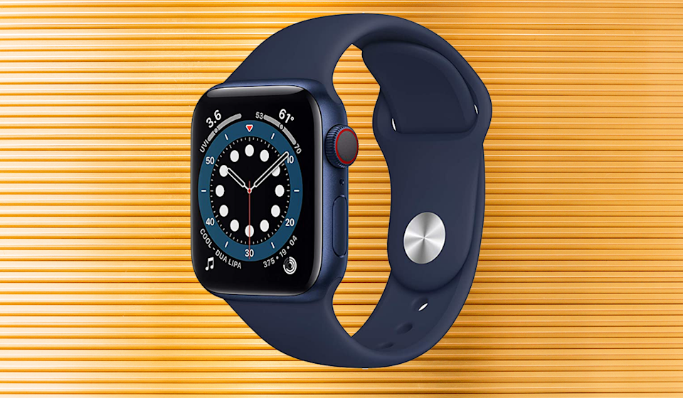 An Apple Watch 6 a day keeps the doctor away,  your flab under control, and your heart rate up. Oh, and it tells time, too. OH, and it's $100 off! (Photo: Amazon)