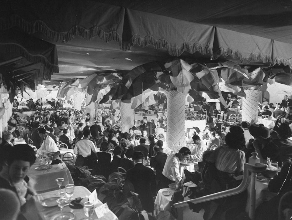 <p>The glamour that was associated with the booths at Toots Shor or the dance floor of The Copacabana was largely due to the society names that flocked to these spots weekly. The concept of Supper Clubs lasted well into the late '70s.</p>