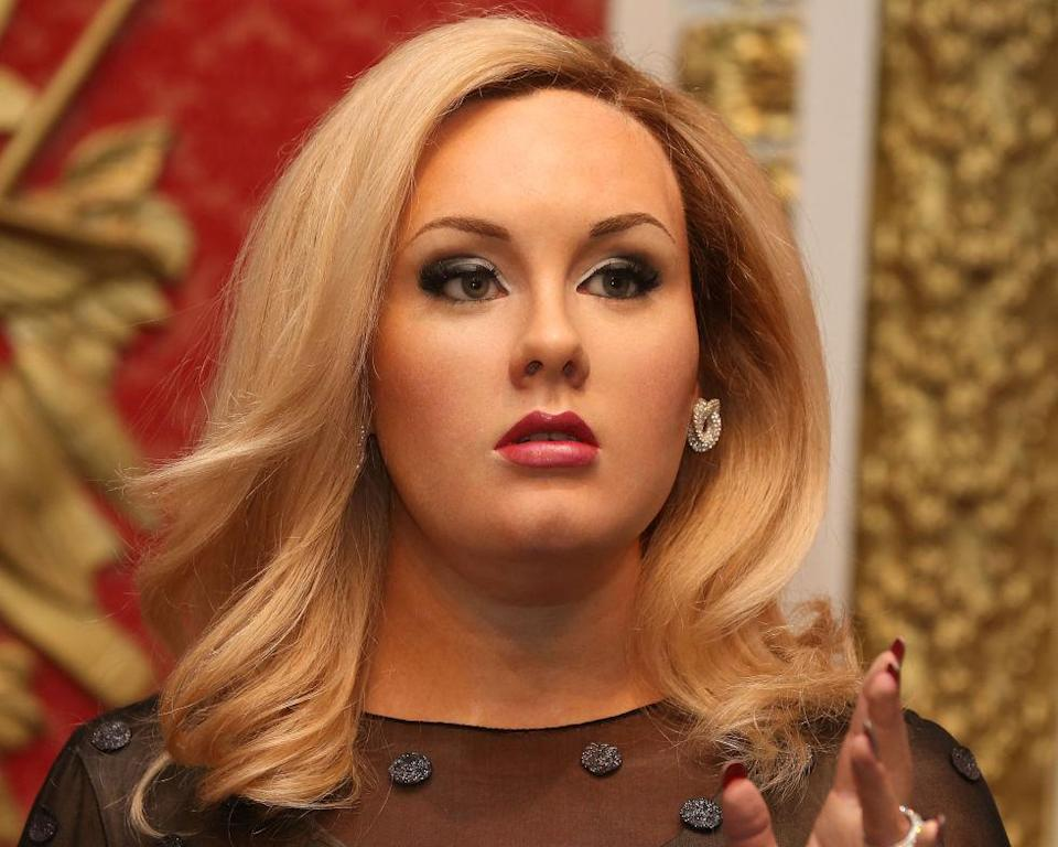 <p>Madame Tussauds, London, say this is Adele but we're not convinced. Copyright: [Splash] </p>