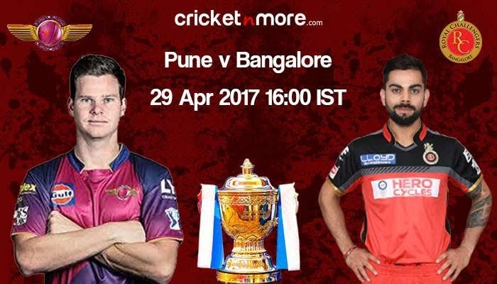 IPL 10: Pune fancy win against depleted Royal Challengers Bangalore