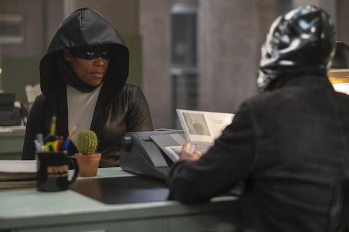 "Regina King in a scene from ""Watchmen."" Credit: Mark Hill/HBO"