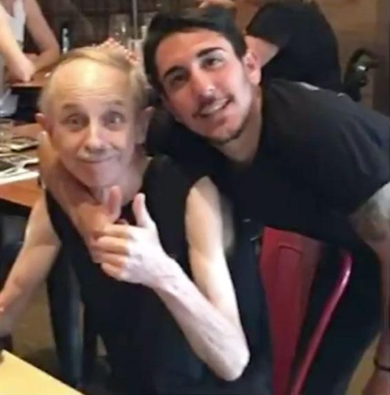 Melbourne man Jeffrey Conway at Two Sugars café where he suffered a heart attack before dying.