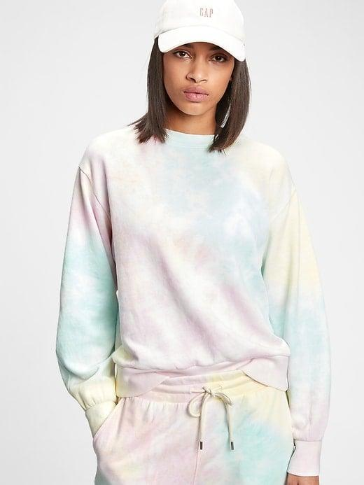 <p>There are plenty of solids and patterns of this <span>Gap Balloon Sleeve Crewneck Sweatshirt</span> ($42-$51, originally $55-$60) and <span>Gap Vintage Soft Ribbed Cuff Joggers</span> ($51, originally $60), but how pretty is this pastel tie-dye?!</p>