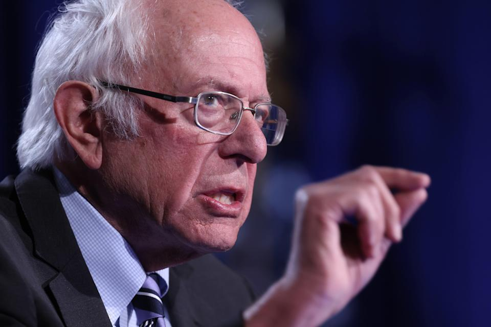 <p>File photo: Bernie Sanders, in an interview, has said that he isn't comfortable with the Twitter ban on former US President Donald Trump</p> (Photo by Win McNamee/Getty Images)