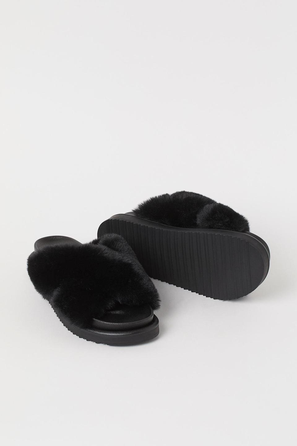 <p>These <span>Faux Fur Slippers</span> ($30) basically feel like a warm hug. You'll feel snug when you put them on.</p>