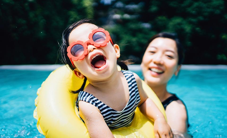 Beat the heat in a family-size inflatable pool from Amazon (Getty Images).