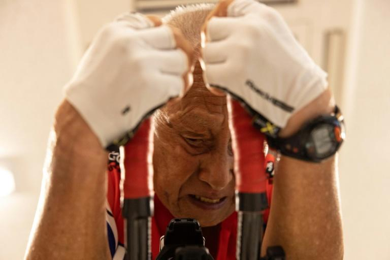Hiromu Inada hopes to compete in the Ironman next year, aged 90