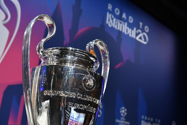 A general view ahead the UEFA Champions League 2019/20 Round of 16 Draw at the UEFA headquarters, The House of European Football on Dec. 16, 2019 in Nyon, Switzerland. (Harold Cunningham/UEFA via Getty Images)