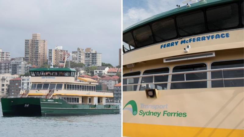 Sydney ferry May Gibbs, formerly known as Ferry McFerryface, cruising on Sydney harbour.