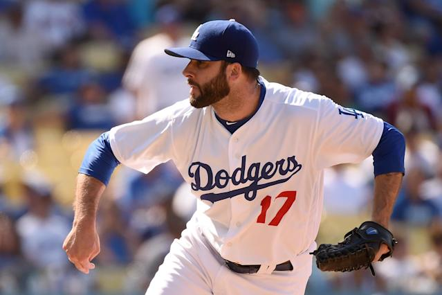 No longer a starter, Brandon Morrow is hitting 100 miles per hour again as a reliever for the Dodgers. (Photo by Lisa Blumenfeld/Getty Images)