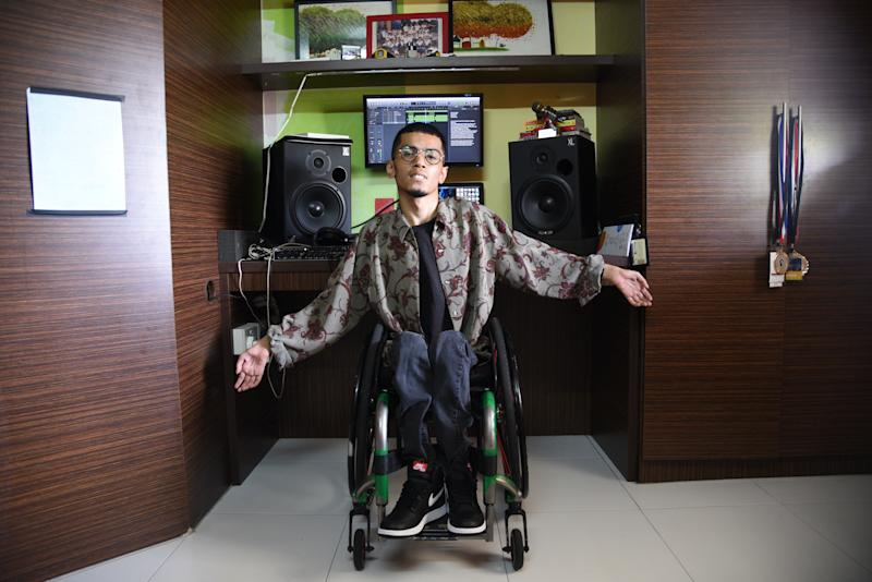 Music gives me a sense of identity: Disabled hip-hop artist
