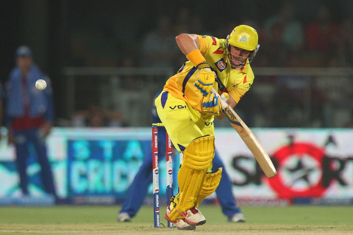 Michael Hussey during the qualifier 1 match of the 2013 Pepsi Indian Premier League between The Chennai Superkings and the Mumbai Indians held at the Feroz Shah Kotla Stadium, Delhi on the 21st May 2013..Photo by Ron Gaunt-IPL-SPORTZPICS    ..Use of this image is subject to the terms and conditions as outlined by the BCCI. These terms can be found by following this link:..https://ec.yimg.com/ec?url=http%3a%2f%2fwww.sportzpics.co.za%2fimage%2fI0000SoRagM2cIEc&t=1501101885&sig=dQURx3oonTs.cC7eAjtAXA--~C