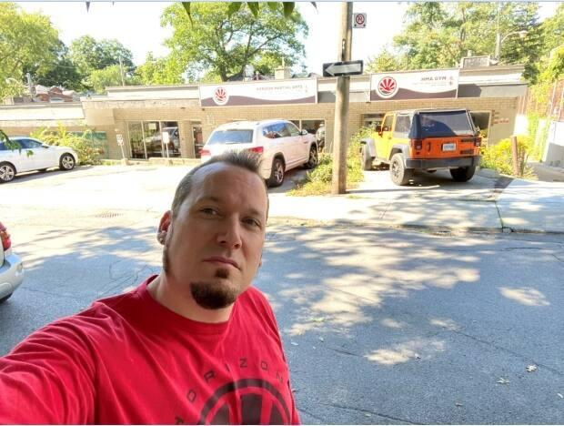Mark Evans says the three parking spots outside his business, Horizon Martial Arts, were used by nearby residents throughout the pandemic lockdowns. (Mark Evans/Supplied - image credit)