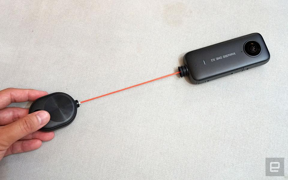 Insta360 Bullet Time Cord with One X2.