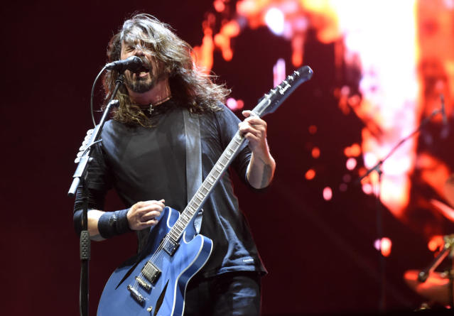 <p>NEW ORLEANS, LA – OCTOBER 28: Dave Grohl of Foo Fighters performs during the 2017 Voodoo Music + Arts Experience at City Park on October 28, 2017 in New Orleans, Louisiana. (Photo by Tim Mosenfelder/Getty Images) </p>
