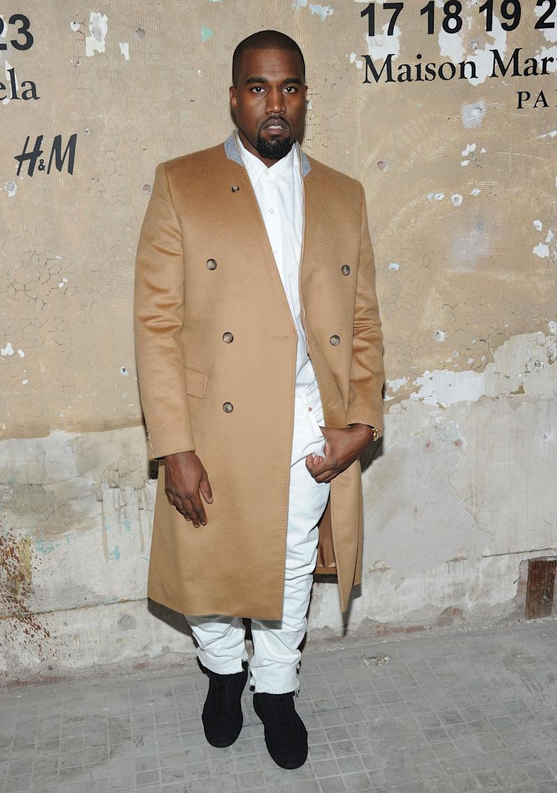 NEW YORK, NY - OCTOBER 23: Kanye West attends the Maison Martin Margiela with H&M global launch event at 5 Beekman on October 23, 2012 in New York City. (Photo by Jamie McCarthy/Getty Images for H&M)