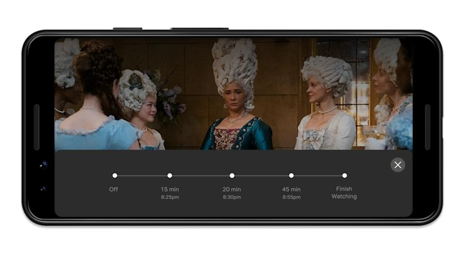 The timer will allow users to choose between 15, 20 and 45 minutes or to finish the show (Netflix)