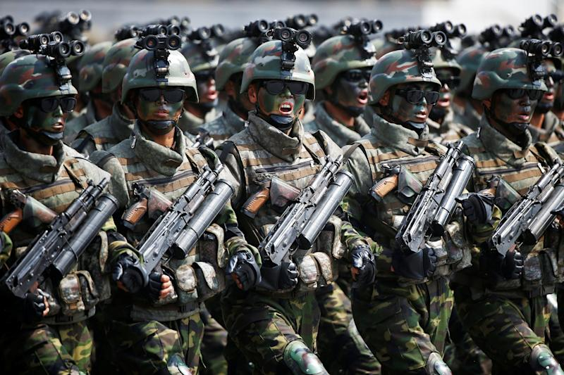 North Korea military parade special forces