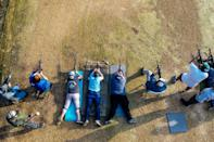 """""""We've seen a huge increase in the number of people that are first-time gun owners and also first-time class attendees,"""" said Boondocks Firearms Academy manager Chad Winkler"""
