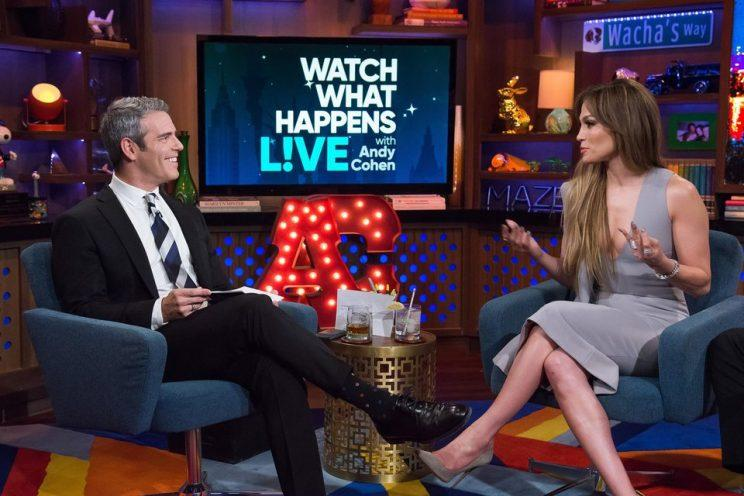Andy Cohen grilled J.Lo about her sex life on Watch What Happens Live.