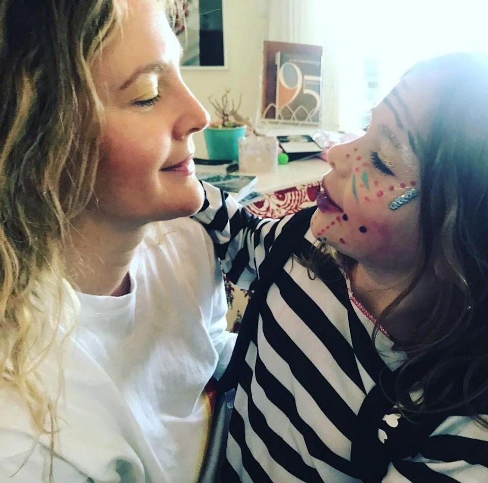 Drew Barrymore and daughter Olive | Drew Barrymore/Instagram