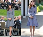 <p>Kate wore this Michael Kors coat dress to ANZAC Day ceremonies in April 2014 and the opening of the Magic Garden at Hampton Court in May 2016. </p>