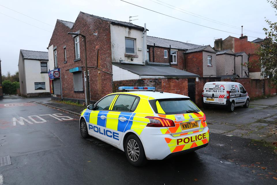A one-year-old girl was found injured at a house in Cross Lane, Radcliffe, Greater Manchester, in October 2019, before later dying in hospital. (SWNS)