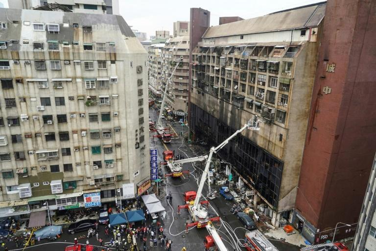 The city's fire department said it sent more than 70 trucks to tackle the blaze (AFP/STR)