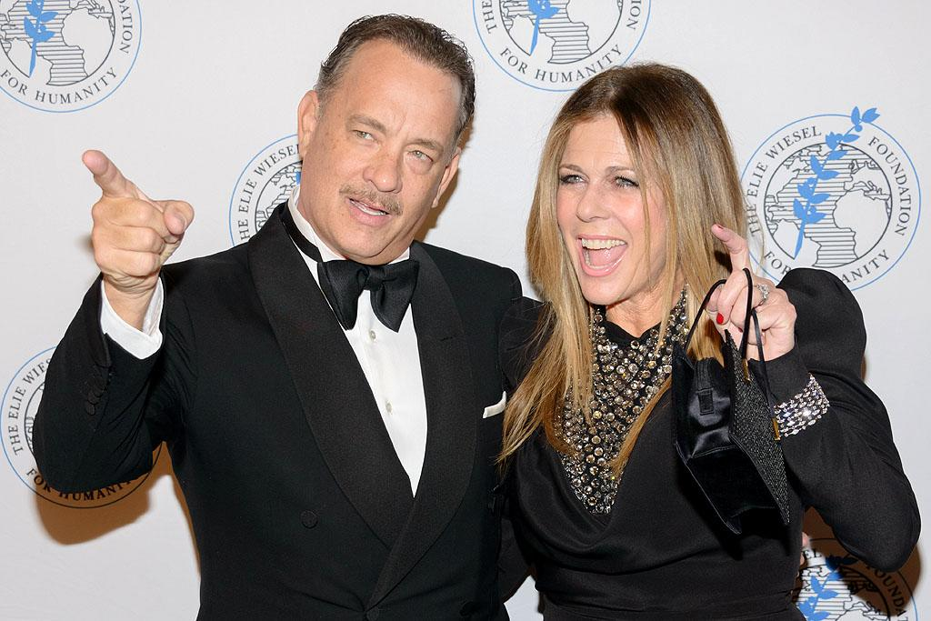 NEW YORK, NY - OCTOBER 17:  Actors Tom Hanks (L) and Rita Wilson attend the 2012 Arts For Humanity Gala at New York Public Library on October 17, 2012 in New York City.  (Photo by Michael Stewart/WireImage)