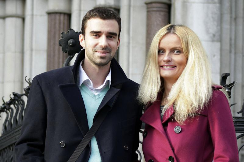Family rift: Filip Saranovic with his wife Nevena: Richard Gittins/Champion News