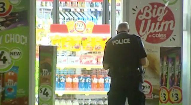 The boy arrested in a home close to the service station after the alleged robbery. Photo: 7 News