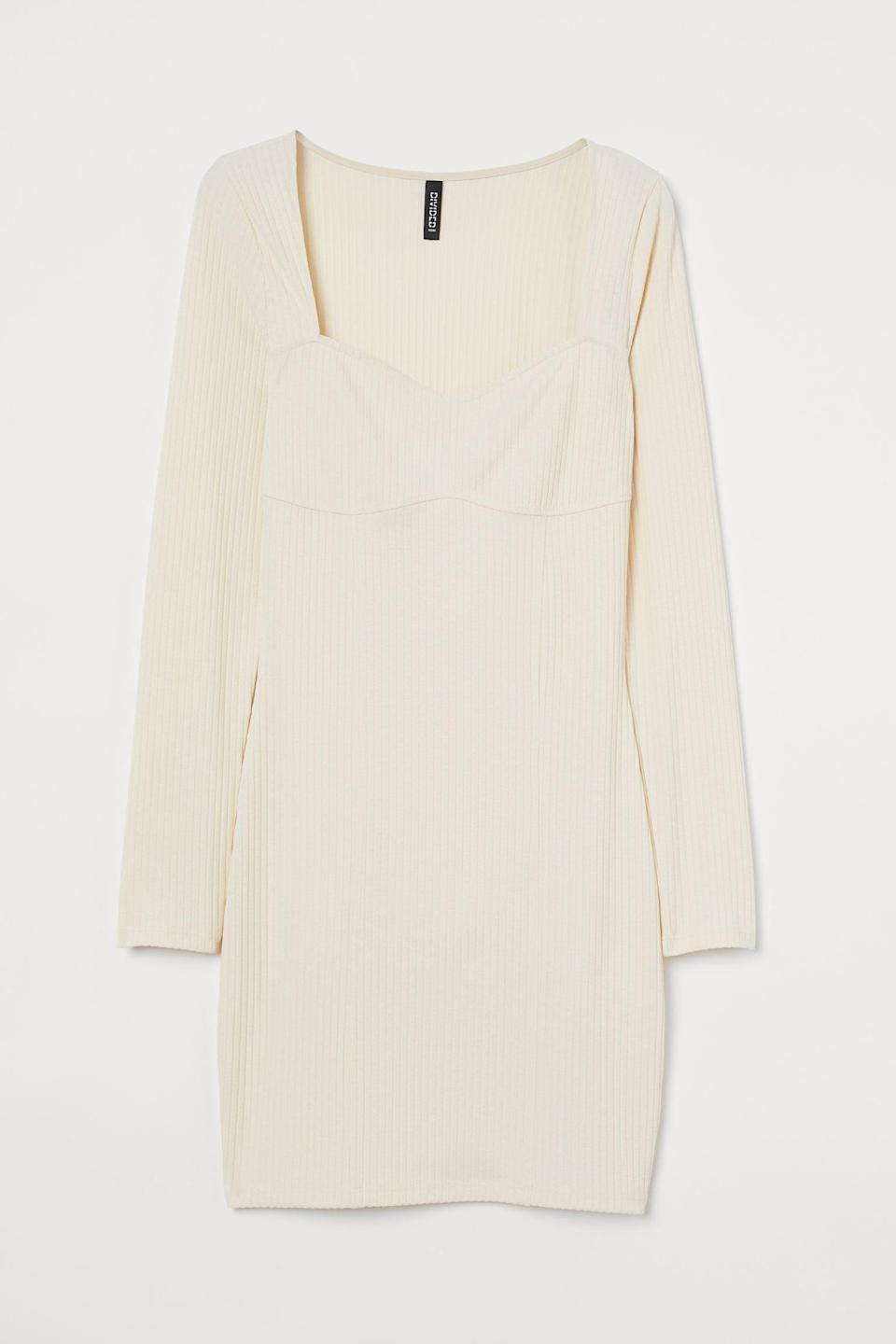 <p>Want to get tons of compliments when you go out with the girls next week? Wear this form-fitting <span>Ribbed Dress</span> ($15, originally $18), which oozes femininity and confidence.</p>