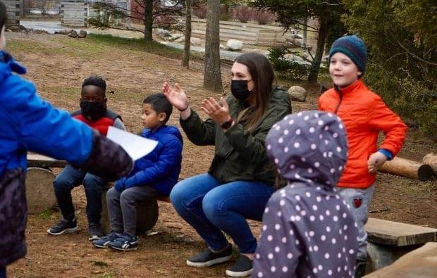 The province and the federal government are offering up money to help elementary schools build or improve outdoor learning spaces.  (Craig Paisley/CBC - image credit)