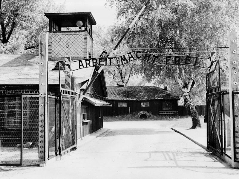 The Auschwitz concentration camp, which was liberated by Soviet troops in January 1945