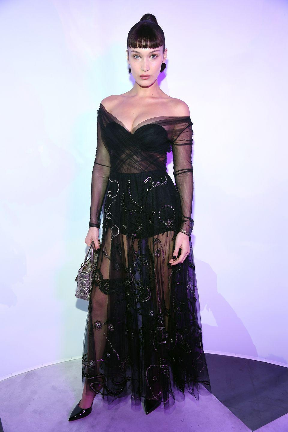 <p>Dior's corset dresses with sheer fabric and an exposed hot pant scream LBD with a twist. These designs had a real moment in 2018 and were worn by some of the most stylish celebrities, including Bella Hadid.<br></p>
