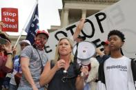 Supporters of U.S. President Donald Trump at a 'Stop the Steal' protest at the Georgia State Capitol