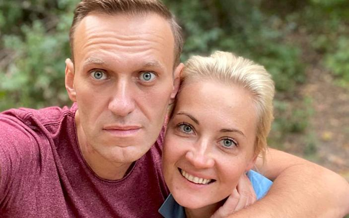 Russian opposition leader Alexei Navalny and his wife Yulia - Instagram