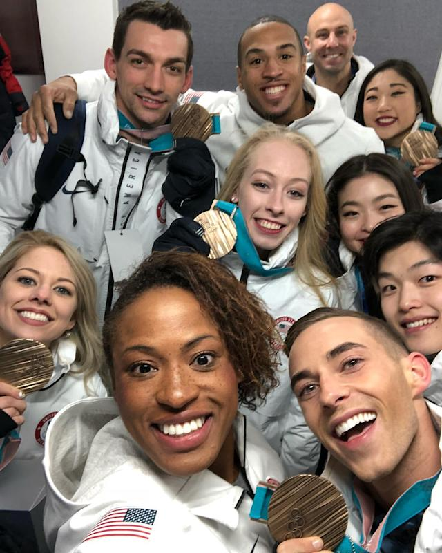 <p>teamusa: So much patriotism in one selfie!<br> (Photo via Instagram/teamusa) </p>